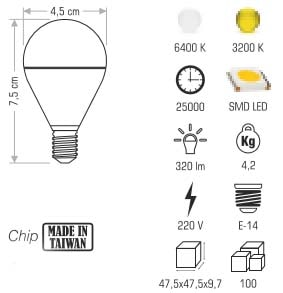 Cata 3 Watt Led Ampul e14