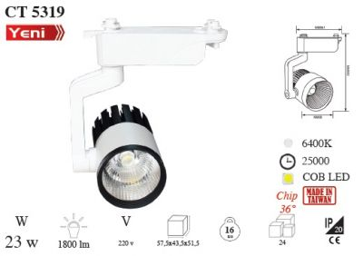 Cata Ray Spot 23 Watt COb Led